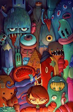 The Army of Me by Maria Tiurina, via Behance