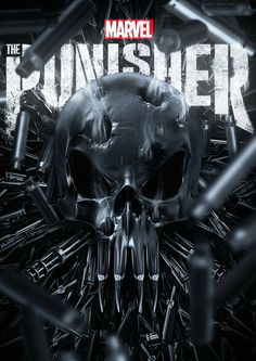 Though Marvel has yet to begin the marketing campaign for The Punisher, a new fan poster has arrived to heighten anticipation for the show. Daredevil Punisher, Punisher Logo, Punisher Skull, Comic Book Characters, Comic Book Heroes, Comic Character, Comic Books, Comic Art, Hq Marvel