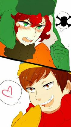 Read Kyman - 1 from the story South Park (Imágenes yaoi) by S_M_Piu with reads. South Park Anime, South Park Fanart, South Park Cartman, Kyle South Park, Castor And Pollux, Vanoss Crew, Eric Cartman, Cartoon Ships, Gay