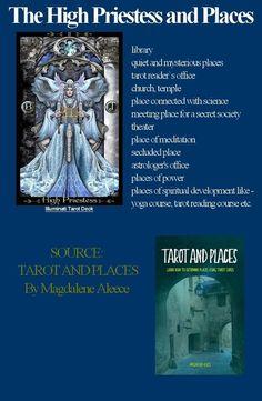 The High Priestess and Places Yoga Courses, Tarot Meanings, Tarot Major Arcana, Mysterious Places, Tarot Readers, Daily Drawing, Tarot Spreads, Tarot Decks, Illuminati