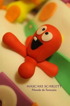 PULPO Eli Pocoyo, Bday Girl, Pasta Flexible, Cakes For Boys, Play Doh, Baby Party, Gum Paste, Clay Jewelry, Special Day