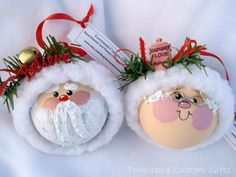 Santa & Mrs. Clause Ornaments, Christmas Crafts