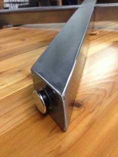 X de Table en métal jambes brossés finition Nickel 2