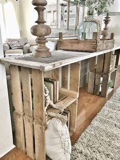 Simple DIY console table Bless this nest entrance table to hang up .club, Simple DIY console table Bless this nest entrance table to hang … Farmhouse Side Table, Rustic Farmhouse, Farmhouse Style, Rustic Kitchen, Entrance Table, Entryway Tables, Entryway Ideas, Entryway Console, Entryway Storage