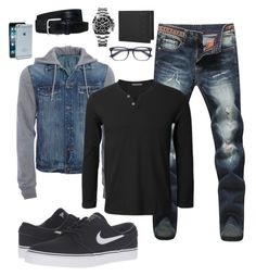 """Untitled #80"" by geniiie on Polyvore featuring Moshi, Aéropostale, NIKE, Rolex, Gucci, Tod's, men's fashion and menswear"