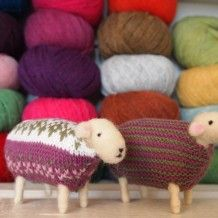 Mary makes her collectable wool sheep through the process of needle felting each with bespoke hand knitted jumpers.