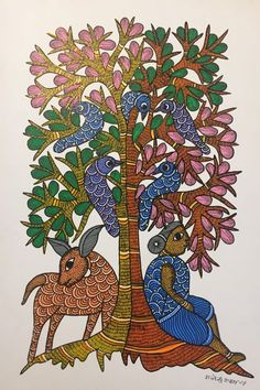 70 Best Ideas for dogs art illustration artists Pichwai Paintings, Indian Art Paintings, Madhubani Art, Indian Folk Art, Madhubani Painting, India Art, Buddha Art, Illustration Artists, Mural Art