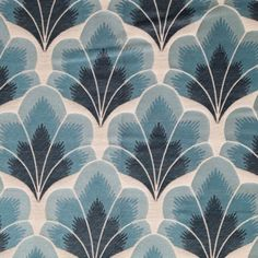 love this Art Deco like fabric - Bargello - by Mokum Textiles. Beautiful in blue, ash, marcasite, tamarind and rose Motifs Textiles, Textile Prints, Textile Patterns, Textile Design, Fabric Design, Et Wallpaper, Fabric Wallpaper, Pattern Wallpaper, Pretty Patterns