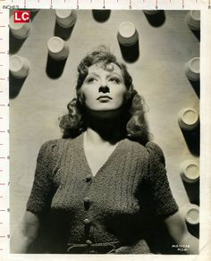 Greer Garson - pre-Hollywood. UK photo. Would appear that she may not be wearing anything under that sweater....