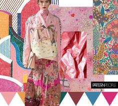 Pattern People | Color Palette // Raspberry Retreat  Hermes | Valentino | via moondialing | Pinterest | Alexander Morton
