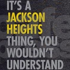 af930ffe7f3 Jackson Heights Queens NY Thing Dark T-Shirt Jackson Heights Queens NY  Thing T-