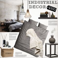 A home decor collage from February 2015 Rustic Industrial Bedroom, Girls Bedroom, Bedroom Decor, Bedrooms, Diy Room Decor For Girls, Interior Decorating, Interior Design, Loft, Bedroom Styles