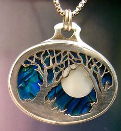 Custom one of a kind landscape pendant by JewelrybyRC on Etsy, $148.00