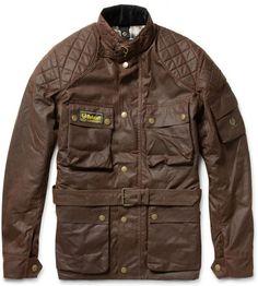 Belstaff Brown Trailmaster Replica Evolution Waxed Cotton Motorbike Jacket. As worn by Steve McQueen.