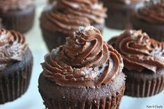 Sugar free, gluten free, and low carb chocolate cupcakes! Basic ingredients and easy enough for a weeknight treat! Perfect for keto diets!