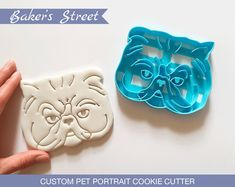 Excited to share this item from my shop: Custom Pet Portrait Cookie Cutter l Personalized cutters l Custom gift l Face l Christmas l Birthday l Cat Dog Face l printed Dog Cookie Cutters, Custom Cookie Cutters, Custom Cookies, Valentines Day Cookies, Holiday Cookies, Dog Cookies, Cookies Et Biscuits, Cat Dog, Love Your Pet