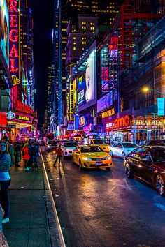 Times Square rush hour at night on Broadway by John van den Heuvel on canvas, wallpaper and Night Aesthetic, City Aesthetic, Travel Aesthetic, Aesthetic Girl, Aesthetic Vintage, New York Wallpaper, City Wallpaper, Print Wallpaper, New York Life