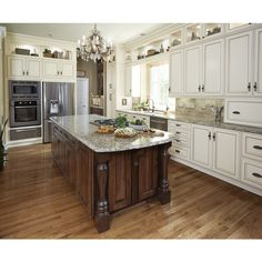 Ryan homes cherry bordeaux cabinets and santa cecilia for Kitchen cabinets zionsville