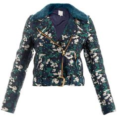 Opening Ceremony Floral jacquard jacket ($953) ❤ liked on Polyvore