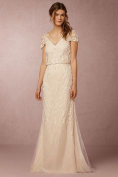 I´m in love with this dress.Aurora Gown from @BHLDN