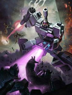 Megatron wielding Shockwave.