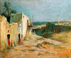 Village Photography, Landscape Paintings, Oil Paintings, Landscapes, Saint, Art History, Africa, Bled, Moroccan