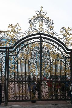 Wrought Iron Gate Fine Art Print - Christiane Schulze
