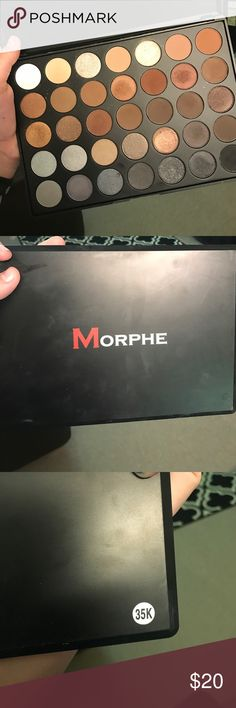 Morpheus 35K palette ONLY USED ONE TIME! Seriously some great shades in here. I love this palette, but I have way too much eyeshadow. This is the 35K palette is has a mix of matte and metallic shades. Morphe Makeup Eyeshadow