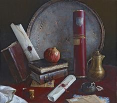 Letters from Paris. Painting by Konstantin Kacev