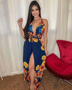 Stylish Blue Floral Print Dress on Home Architecture Tagged on Stylish Blue Floral Print Dress. Office Outfits Women, Casual Dresses For Women, Casual Outfits, Cute Outfits, Clothes For Women, Look Fashion, Girl Fashion, Fashion Outfits, Womens Fashion