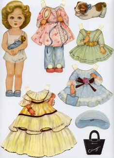 54 Super Ideas for diy paper dolls etsy Paper Doll Craft, Doll Crafts, Paper Toys, Diy Paper, Paper Art, Paper Crafts, Vintage Paper Dolls, Vintage Toys, Paper Dolls Printable