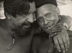 Orlando Villas Boas e um índio Txicão
