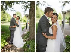 David's Bridal bride Brandi in a one-shoulder gown with lace and beading.
