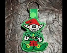 All Key Fob Machine Embroidery Patterns Christmas Elf, Christmas Ornaments, Backpack Tags, Machine Embroidery Patterns, Key Fobs, Snowball, 3d Design, As You Like, Hoop