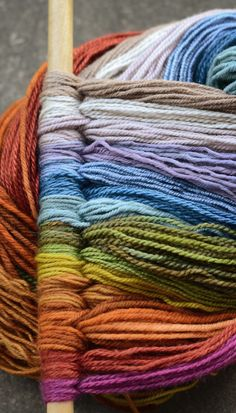 Gorgeous yarn rainbow from Hunter Hammersen