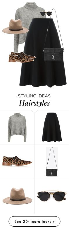 """""""Untitled #10748"""" by alexsrogers on Polyvore featuring Designers Remix, DKNY, rag & bone, Victoria Beckham, Yves Saint Laurent, Christian Dior, women's clothing, women's fashion, women and female"""