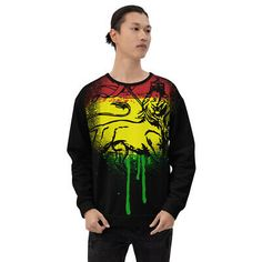 Find many great new & used options and get the best deals for Lion Of Judah Unisex Black Sweatshirt Rasta Jah Rastafari Roots Reggae Colors at the best online prices at eBay! Free shipping for many products! Jah Rastafari, God Bless Us All, Lion Of Judah, Reggae Music, Online Price, Roots, Graphic Sweatshirt, Unisex, Free Shipping