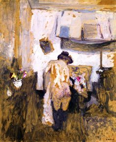 Model Getting Dressed / Edouard Vuillard - 1902