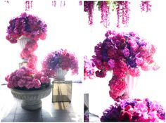 Purple and Fuschia reception wedding flowers,  wedding decor, wedding flower centerpiece, wedding flower arrangement, add pic source on comment and we will update it. www.myfloweraffair.com can create this beautiful wedding flower look.
