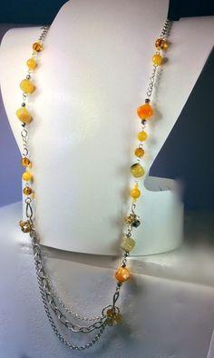 Collana+gialla+multifili+di+Quisikrea+su+DaWanda.com