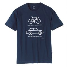 Bikes runs on fat and saves you money. Cars run on money and...