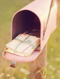 Paint your mailbox pink - and it will be filled with love letters!
