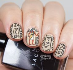 Nails of the Day: Egyptian Hieroglyphics #notd