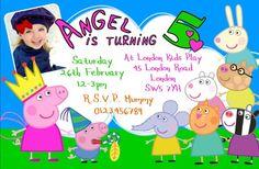 Personalised Peppa Pig & George Birthday Party Invitations