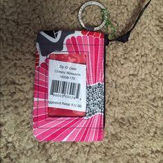 Zip ID Case Smoke and Pet Free! Brand new! Vera Bradley Accessories Key & Card Holders