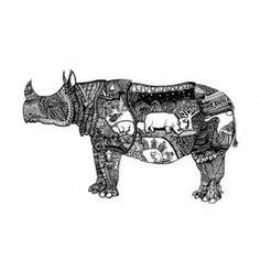 Goodbye Rhino Canvas Art - Liz Ash (20 x 24)