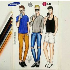 Samsung, Apple & LG (Fashion by WillMatos Amazing Drawings, Beautiful Drawings, Cute Drawings, App Drawings, Art Sketches, Dress Drawing, Drawing Clothes, Fashion Design Drawings, Fashion Sketches