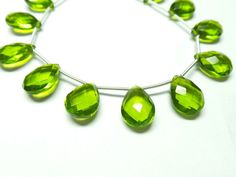 Exquisite Pretty Peridot Quartz  8 Strand by StarGemBeads on Etsy