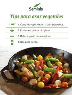 Consejos para asar #vegetales.  Sigue estos tips para cocinar la mayoría de tus vegetales. #Seminis #Tip
