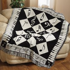 Music note throw. Love it!